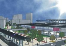 Vista geral da estação intermodal