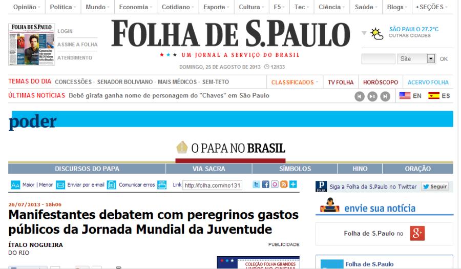 folha internet