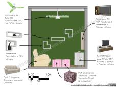 sala de estar pequena, móveis e decoração